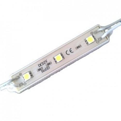 MODULE ΜΕ 3 ΙΣΧΥΡΑ LED 12Vdc 0.9W 120° IP68 ΜΠΛΕ TEMAXIO