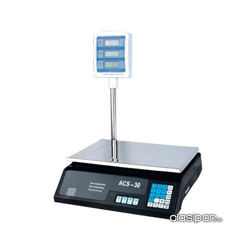 Backlit LCD displays weight, unit price, and total price