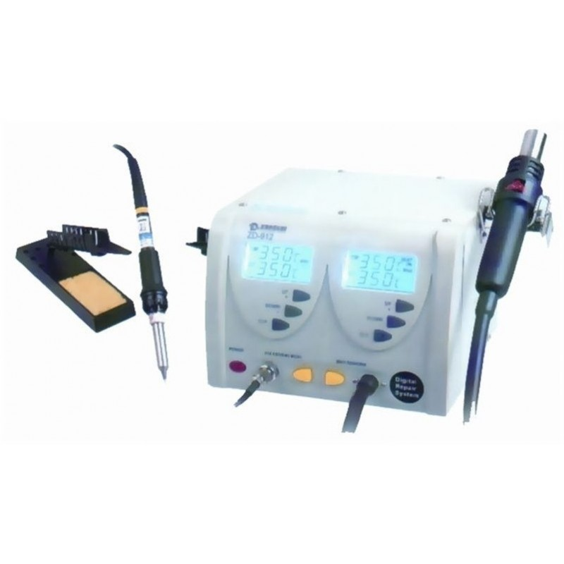 Digital soldering and hot-air station ZD912