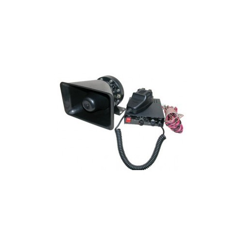 Public address horn amplifier with microphone and siren 12V 80 - 120W.