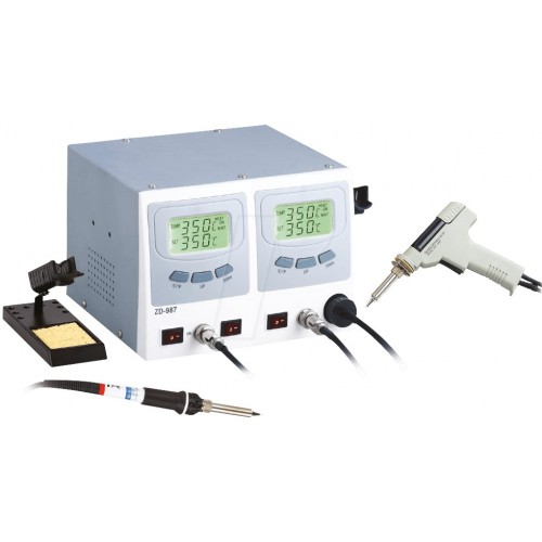 Digital soldering and desoldering station ZD-987, 60/80 watts