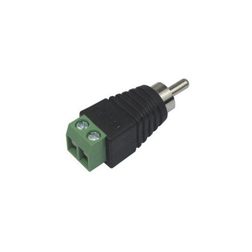 RCA Male Plug to AV Screw Terminal Connector Adapter CCTV Audio Video