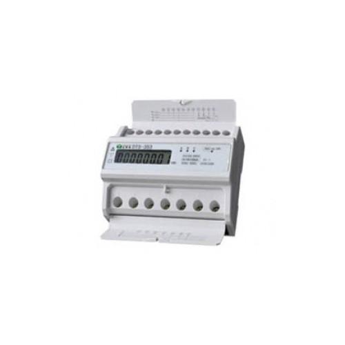 DIN RAIL DIGITAL kWh METER THREE-PHASE 5-100Α