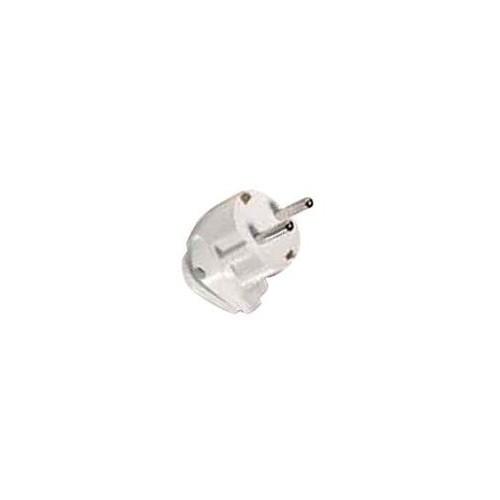 Male Angle Schuko Electrical Current EU Plug White
