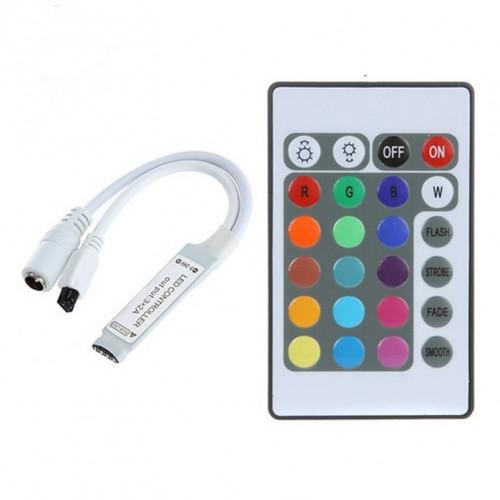 ΑΣΥΡΜΑΤΟ RGB CONTROLLER ΓΙΑ ΤΑΙΝΙΕΣ ΜΕ LED 12A ΧΩΡΙΣ ΤΡΟΦΟΔΟΤΙΚΟ