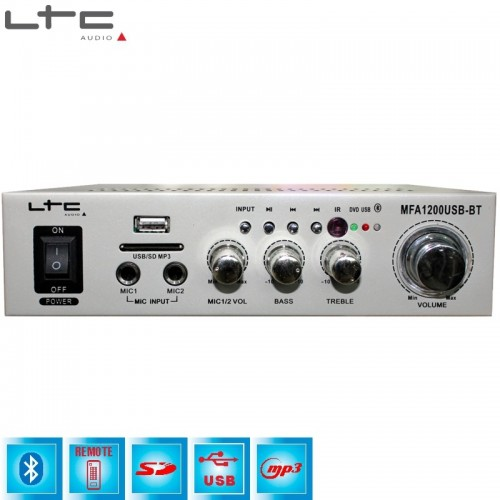 ΕΝΙΣΧΥΤΗΣ HI-FI 2*18W BLUETOOTH - USB & SD 2x50w max