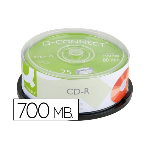 CD-R 25 TEMAXIA 52X 700MB 80 MIN