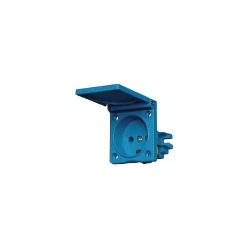 FLUSH-MOUNT SOCKET 2P 16A S220E WITH COVER