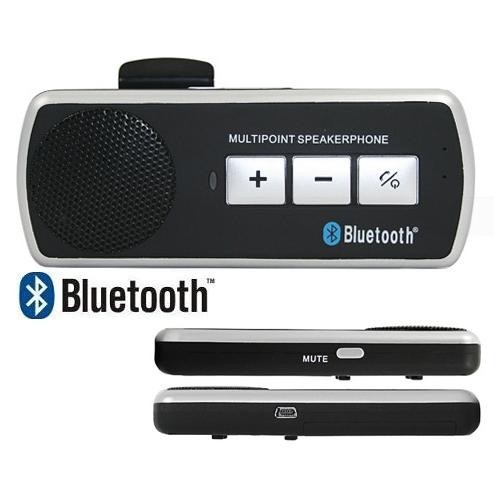Car BT Multipoint Speaker Phone Hands Free with Sun Visor Clip