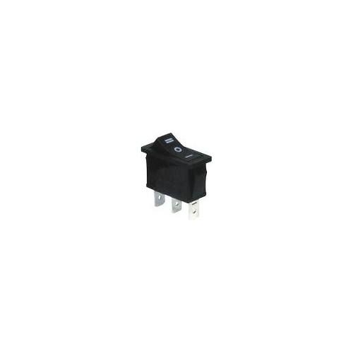MEDIUM ROCKER SWITCH 3P W/O LAMP ON-OFF-ON 16A/250V