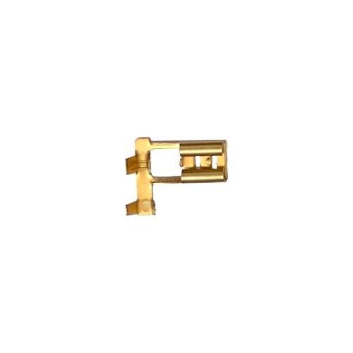 ΓΥΜΝΟΣ ΓΩΝΙΑΚΟΣ ΑΚΡΟΔΕΚΤΗΣ FASTON 6,4mm ΓΙΑ ΑΓΩΓΟΥΣ 2,5mm