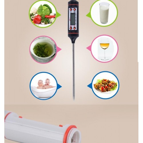 Pin Shape Digital Termometer Instant Read Pocket Oil Milk Coffee Water Test Kitchen Cooking Thermometer Digita