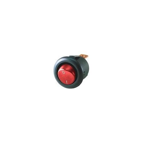 Превключвател 12V 20A червен кръгъл