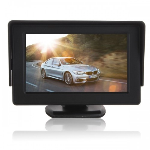 "4.3"" TFT LCD Car Rear View Color Camera Monitor & DVD"