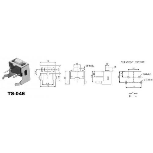 TS046 TACT SWITCH 6*3mm ΟΡΘΙΟ