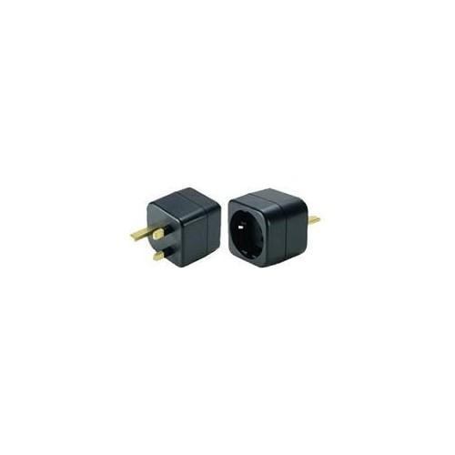 Schuko to U.K. grounded adapter plug
