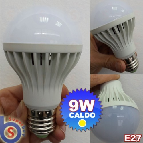 ΛΑΜΠΑ ΜΕ LED 230V 9W E27 WARM WHITE