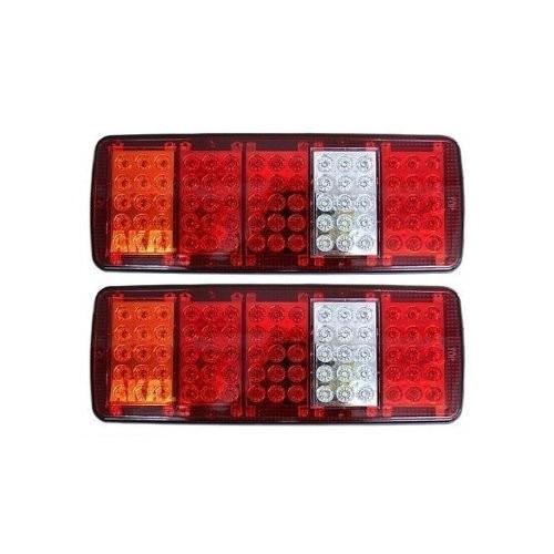 24V LED 4 CHAMBER REAR TAIL LIGHTS FOR TRUCK 34 x 14 CM
