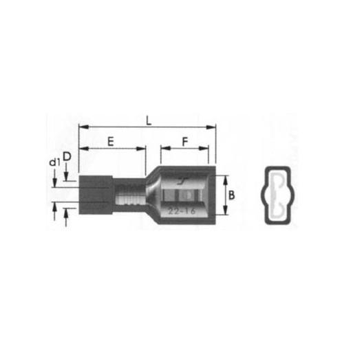 ΑΚΡΟΔΕΚΤΗΣ FASTON ΠΛΑΚΕ ΠΛΗΡΩΣ ΜΟΝΩΜΕΝΟΣ 6,4mm ΓΙΑ ΑΓΩΓΟΥΣ 2,5mm