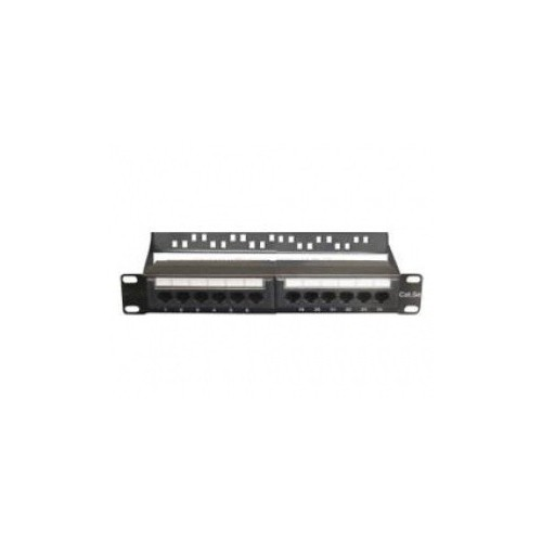 PATCH PANEL UTP CAT5E 12 PORT