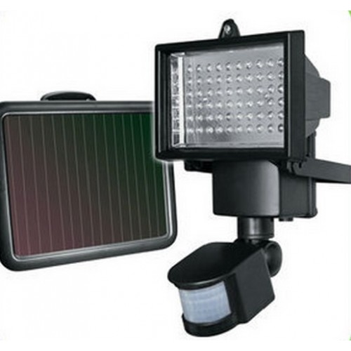 Solar Panel LED Flood Security Garden Light PIR Motion Sensor 60 LEDs