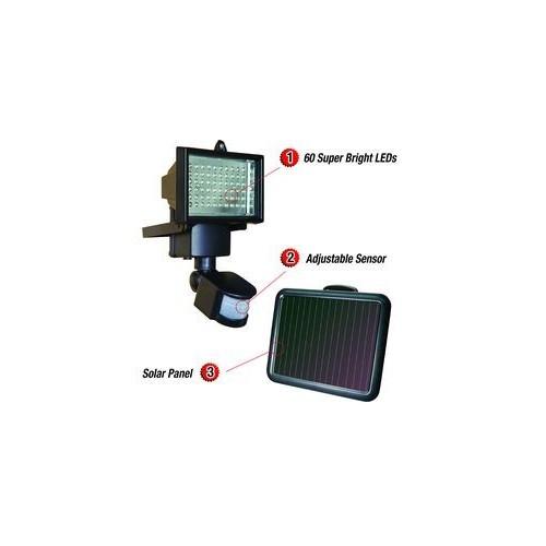 Solar Panel LED Flood Security Garden Light PIR Motion Sensor 60 LEDs