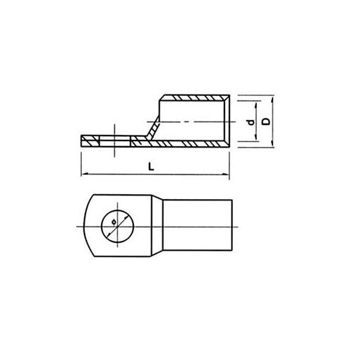 ΑΚΡΟΔΕΚΤΗΣ ΟΡΕΙΧΑΛΚΙΝΟΣ ΟΠΗΣ Φ10 ΚΑΛΩΔΙΟΥ 7.5mm
