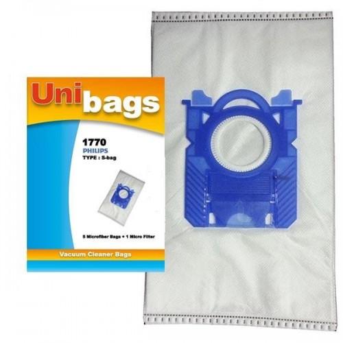 5 Philips / Electrolux Vacuum Cleaner Compatible Dust Bag S-Bag FC8021