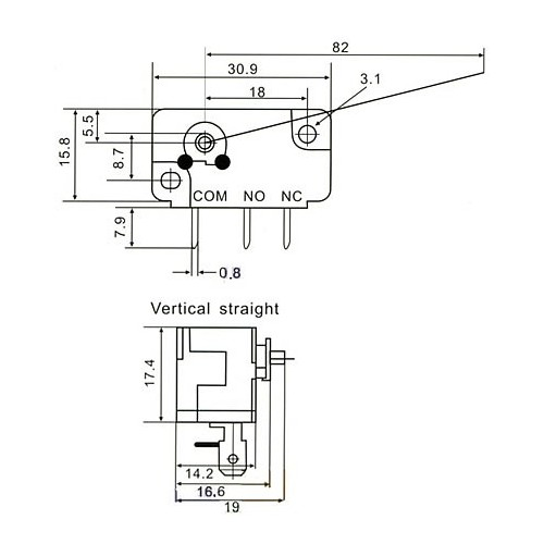 MICRO SWITCH P-CS TYPE / CNR-05S-03Z