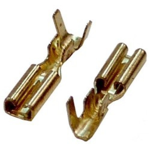 NAKED FEMALE SLIDE CABLE LUG 2.8-1.5 BRASS WITH LOCK (804101) HAN