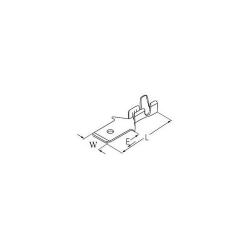 ΓΥΜΝΟΣ ΑΡΣΕΝΙΚΟΣ ΑΚΡΟΔΕΚΤΗΣ FASTON 4,8mm ΓΙΑ ΑΓΩΓΟΥΣ 1,5mm