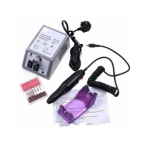 Professional Manicure Pedicure Set - Grey + Purple + Black