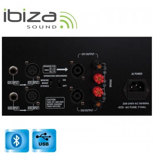 ΤΕΛΙΚΟΣ ΕΝΙΣΧΥΤΗΣ 2 x 800W 4Ω PA USB/Bluetooth