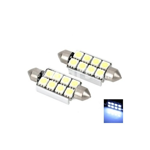 AUTO LED LAMP 42mm WHITE CANBUS 2 ΤΕΜΑΧΙΑ
