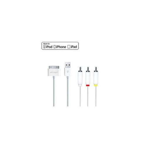 ΚΑΛΩΔΙΟ ΣΥΝΔΕΣΗΣ VIDEO iPod iPad 2 3 iPhone 4 4S 3GS