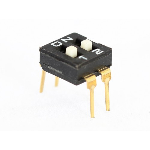 DIP SWITCHES 2 POSITION EAH SERIES