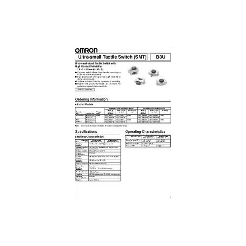 B3U-3000PM TACT SWITCH SMD 2.5X3 mm ΠΛΑΓΙΟ