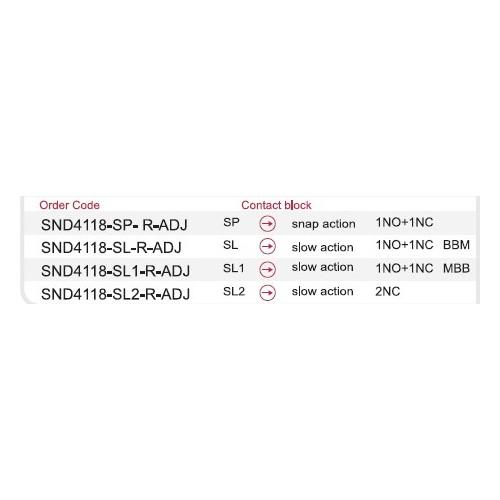 SND4118-SL3-C 2NO ΔΙΑΚΟΠΤΕΣ