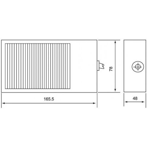 ΠΟΔΟΔΙΑΚΟΠΤΗΣ ΜΕΤΑΛΛΙΚΟΣ 250V 10A ΜΑΥΡΟΣ 68*103mm