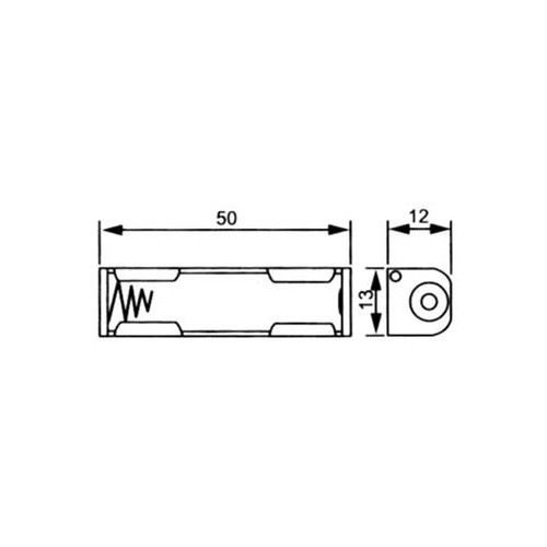SINGLE AΑΑ BATTERY HOLDER WITH CABLE Y1-7012A N-6420