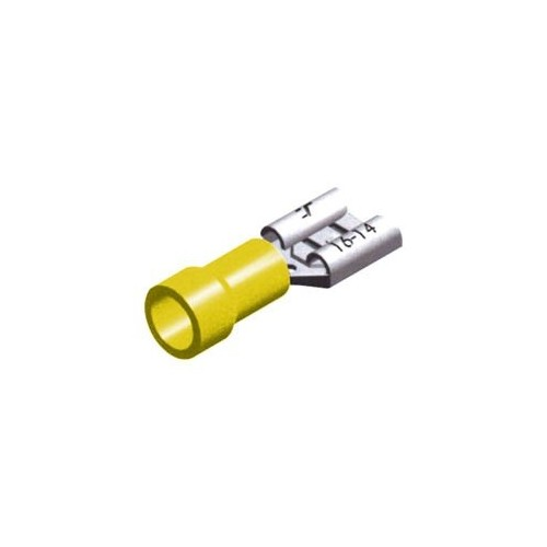 SLIDE CABLE LUG INSULATED FEMALE YELLOW 9.5 F5-9.5V/1.2 CHS