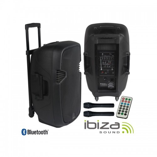 ibiza sound HYBRID15VHF-BT Portable PA Speaker System