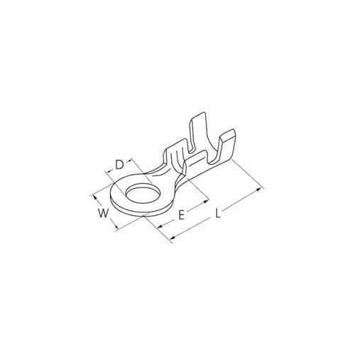 ΓΥΜΝΟΣ ΑΚΡΟΔΕΚΤΗΣ FASTON ΡΟΔΕΛΑ ΜΕ ΟΠΗ 5,3mm ΓΙΑ ΑΓΩΓΟΥΣ 5,5mm