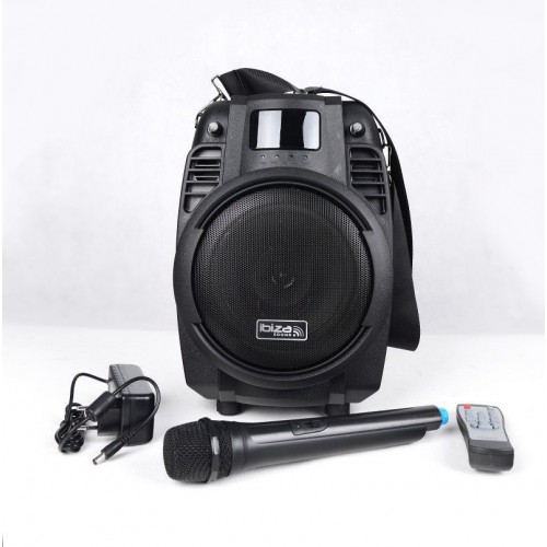 "ALONE PORTABLE SOUND SYSTEM 6.5""/16CM WITH USB, SD, REC, BLUETOOTH & VHF MIC Ibiza POWER6-PORT-B"