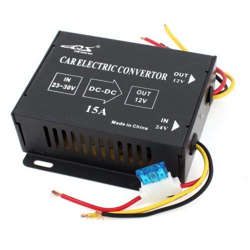 Преобразувател - трансформатор на ток от 24V на 12V, 15 AMP