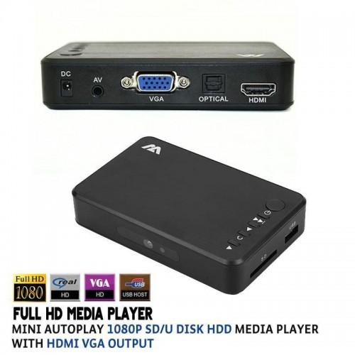 Mini 1080P Full HD Media Player TFT LCD