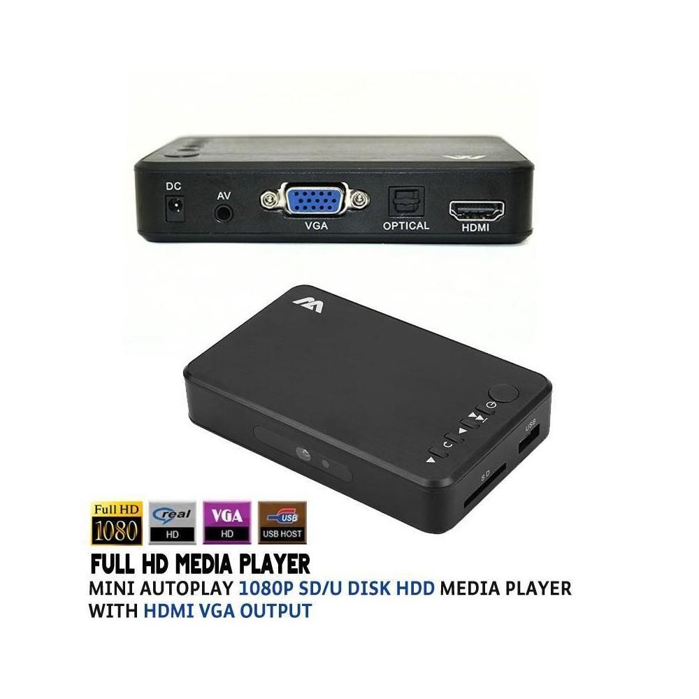Full Hd Media Player 1080p Download Hdtv 1080p Resolucion Led 55 Lg Uhd 4k Smart Tv Uk6350 Camera Replay Xd 1080 Mini: Mini 1080P Full HD Media Player HD MEDIA PLAYER ME HDMI & VGA