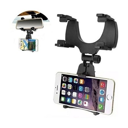 Universal Car Rearview Mirror Mount Phone Holder for iPhone Samsung Huawei GPS Smartphones