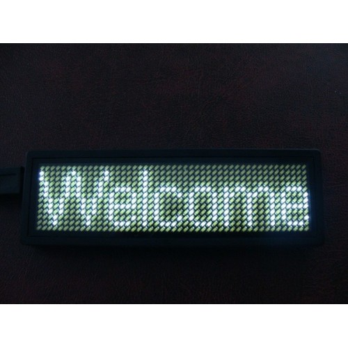 led-badge-sign white