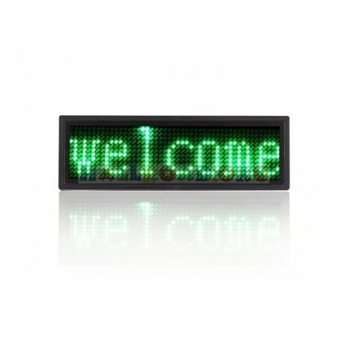 led-badge-sign green